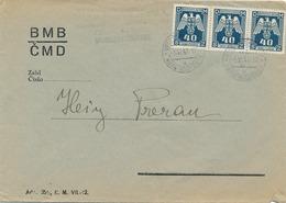 BuM (IMG2980) - Böhmen Und Mähren (1943) Ober Moschtienitz - Horni Mostenice (letter) Tariff: 1,20 K - Böhmen Und Mähren