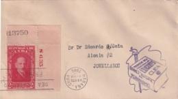 1946-FDC-64 CUBA REPUBLICA 1946 FDC ESCUELA DE PERIODISMO MARQUEZ STERLING PLATE NUMBER - FDC