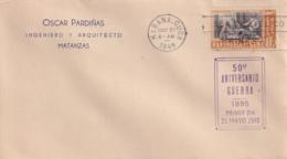1948-FDC-129 CUBA REPUBLICA 1948 FDC 50 ANIV GUERRA DE LA INDEPENDENCIA. REUNION DE LA MEJORANA - FDC