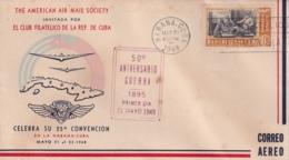 1948-FDC-130 CUBA REPUBLICA 1948 FDC 50 ANIV GUERRA DE LA INDEPENDENCIA. REUNION DE LA MEJORANA - FDC
