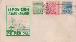 1950-FDC-103 CUBA REPUBLICA 1950 FDC PROPAGANDA DEL TABACO TOBACCO THIRD ISSUE. - FDC