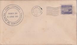 1951-FDC-162 CUBA REPUBLICA 1951 FDC PALACIO DE COMUNICACIONES SEMIPOSTAL, BLACK CANCEL - FDC