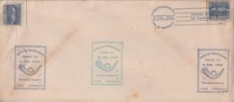 1952-FDC-118 CUBA REPUBLICA 1952 FDC PALACIO DE COMUNICACIONES SEMIPOSTAL, VIOLET & GREEN CANCEL - FDC