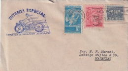 1953-FDC-94 CUBA REPUBLICA 1953 FDC SPECIAL DELIVERY ENTREGA ESPECIAL MOTO. - FDC