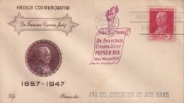 1953-FDC-96 CUBA REPUBLICA 1953 FDC FRANCISCO CARRERA JUSTIZ - FDC