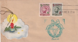 1955-FDC-96 CUBA REPUBLICA 1955 FDC NAVIDADES CHRISTMAS PAVO TURKEY - FDC