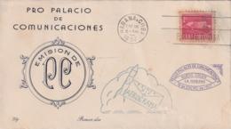 1957-FDC-131CUBA REPUBLICA 1957 FDC PALACIO DE COMUNICACIONES SEMIPOSTAL, VIOLET CANCEL - FDC