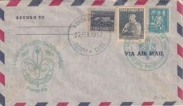 1957-FDC-132 CUBA REPUBLICA 1957 FDC 12c BOYS SCOUTS LORD BADEN POWELL GREEN CANCEL - FDC