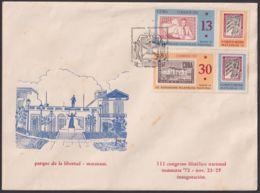 1972-CE-46 CUBA 1972 SPECIAL CANCEL EXPO FILATELICA MATANZAS, III CONGRESO FILATELIA BLACK CANCEL - Cuba