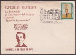 1973-CE-31 CUBA 1973 SPECIAL CANCEL CENT IGNACIO AGRAMONTE INDEPENDENCE WAR BLACK CANCEL - Cuba