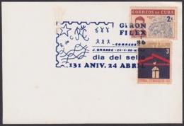 1986-CE-50 CUBA 1986 SPECIAL CANCEL PHILATELIC EXPO STAMPS DAY JAGUAY GRANDE GIRON FILEX. - Cuba