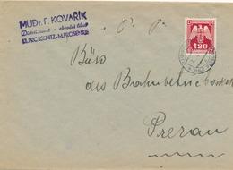 BuM (IMG2981) - Böhmen Und Mähren (1943) Klein-Prossenitz - Male Prosenice (letter) Tariff: 1,20 K - Böhmen Und Mähren