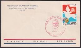 1987-CE-110 CUBA 1987 SPECIAL CANCEL 25 ANIV DEL MUSEO ERNEST HEMINGWAY RED CANCEL - Cuba