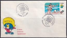 1991-CE-201 CUBA 1991 SPECIAL CANCEL PANAMERICAN GAMES POLO ACUATICO. - Cuba