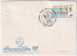 1991-CE-204 CUBA 1991 SPECIAL CANCEL PANAMERICAN GAMES PANAMFILEX 11 JULIO BARACOA ENTRADA ANTORCHA. - Cuba