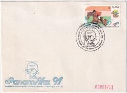 1991-CE-205 CUBA 1991 SPECIAL CANCEL PANAMERICAN GAMES PANAMFILEX 26 JULIO PINAR DEL RIO ENTRADA ANTORCHA - Cuba