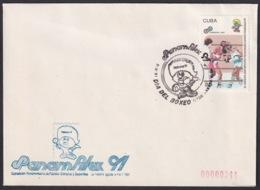 1991-CE-207 CUBA 1991 SPECIAL CANCEL PANAMERICAN GAMES PANAMFILEX DIA BOXEO BOXING - Cuba