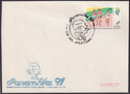 1991-CE-209 CUBA 1991 SPECIAL CANCEL PANAMERICAN GAMES PANAMFILEX DIA DEL ATLETISMO ATHLETISM - Cuba