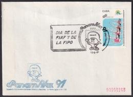 1991-CE-211 CUBA 1991 SPECIAL CANCEL PANAMERICAN GAMES PANAMFILEX DIA DE LA FIAF Y LA FIPO - Cuba