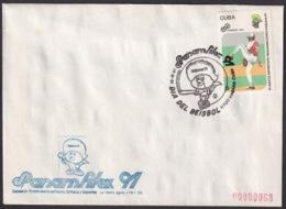 1991-CE-215 CUBA 1991 SPECIAL CANCEL PANAMERICAN GAMES PANAMFILEX DIA DEL BEISBOL BASEBALL - Cuba