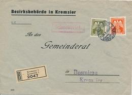 BuM (IMG2982) - Böhmen Und Mähren (1943) Kremsier 1 - Kromeriz 1 (R-letter) Local Tariff: 3,80 K - Böhmen Und Mähren