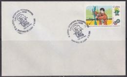 1991-CE-217 CUBA 1991 SPECIAL CANCEL PANAMERICAN GAMES TIRO CON ARCO SHOT WITH ARC - Cuba