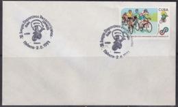 1991-CE-219 CUBA 1991 SPECIAL CANCEL PANAMERICAN GAMES CICLISMO CYCLE. - Cuba