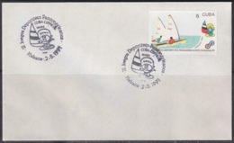1991-CE-224 CUBA 1991 SPECIAL CANCEL PANAMERICAN GAMES VELA SHIP - Cuba