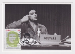 TMA-445 SPAIN ANTILLES 2008 MAXIM CARD ERNESTO CHE GUEVARA. BLACK CANCEL - Maximum Cards