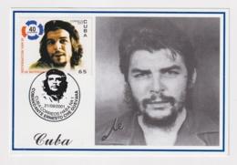 TMA-455 SPAIN ANTILLES 2001 MAXIM CARD ERNESTO CHE GUEVARA. BLACK CANCEL - Maximum Cards