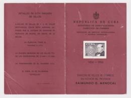 PRP-121 CUBA REPUBLICA 1956 PROPAGANDA POSTAL RAIMUNDO MENOCAL - Maximum Cards