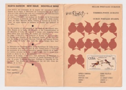 PRP-122 CUBA 1971 PROPAGANDA POSTAL RAMON DE LA SAGRA AVES BIRD PAJAROS - Maximum Cards