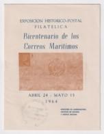 1964-CE-32 CUBA 1964 (LG1735) SPECIAL CANCEL. LIBRO DE LA EXPOSICION 200 ANIV CORREO MARITIMO - Maximum Cards