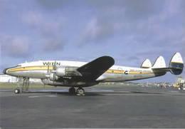 Wien Alaska Airlines Lockheed L-749 Costellation N7777G At BFI - 1946-....: Era Moderna
