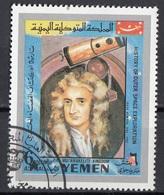 Mutawakelite K. Yemen 1969 Mi. 863 Isaac Newton - History Of Outer Space Exploration Astronomo Matematico... - Astronomia