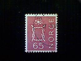 Norway (Norge), Scott #467, Used (o), 1968, Boatswain's Knot, 65ø, Lake - Norway