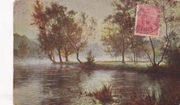 A RIGOLOT. SOLEIL LEVANT DANS LA BRUME. SALON DE PARIS. VOYAGEE 1916 - BLEUP - Peintures & Tableaux