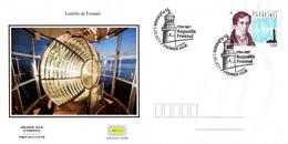 France  2019 FDC : Augustin Fresnel (1788 - 1827). Obliteration 1er Jour 03/05/2019 Plevenon. - FDC