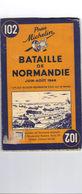 Carte Michelin 102.Bataille De Normandie.Edition Originale 1947 - 1939-45