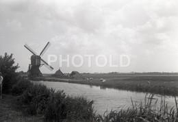 40s WIND MILL MOULIN HOLLAND NETHERLANDS 60/90mm AMATEUR NEGATIVE NOT PHOTO NEGATIVO NO FOTO - Photographie