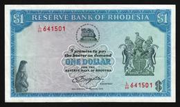 Rhodesia 1 Dollar 1976 (VF) P-34a - Rhodesia