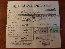 CHOLON Mr. JACK LANG DIT LY THANH LOAN TIMBRES FISCAUX VIETNAM FACTURE INDOCHINE STAMP HO CHI MINH CHINA VIET-NAM TIMBRE - Factures & Documents Commerciaux