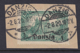 Danzig MiNr. 9a Gest. Gepr. - Briefstück - Danzig