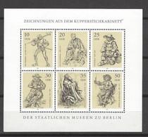 DDR - Kleinbogen Mit Mi-Nr. 2347 - 2352 Kupferstichkabinett Der Staatlichen Museen Berlin Postfrisch - DDR