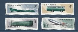 Chine China 1980 Yvert 2323/2326 ** Transports Postaux - Mail Transportation Ref T49 - 1949 - ... People's Republic