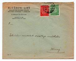 1932 YUGOSLAVIA, SLOVENIA, LJUBLJANA TO KRANJ, SLUZBENI LIST, OFFICIAL NEWSPAPER'S COVER - Covers & Documents