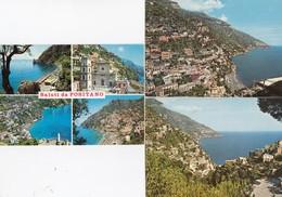 POSITANO-SALERNO- 3 CARTOLINE VERA FOTOGRAFIA NON VIAGGIATE - Salerno
