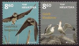 Croatia 2019 Europa CEPT National Birds Seagull Swallow Fauna, Set MNH - Croatie