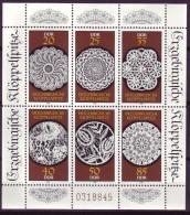 DDR Kleinbogen Mi-Nr. 3215 - 3220 Erzgebirgische Klöppelspitze Postfrisch - DDR