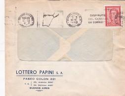 1955 COMMERCIAL COVER LOTTERO PAPINI SA BUENOS AIRES BANDELETA PARLANTE - BLEUP - Argentine